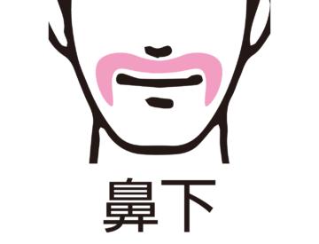 鼻下のひげ脱毛